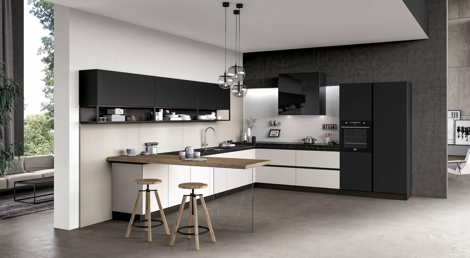 meuble de cuisine avec fa ades finition en verre ilot central ou lin aire bandol vente de. Black Bedroom Furniture Sets. Home Design Ideas